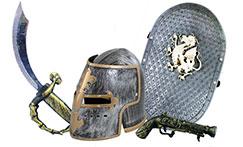 vojáci, rytíři a zbraně