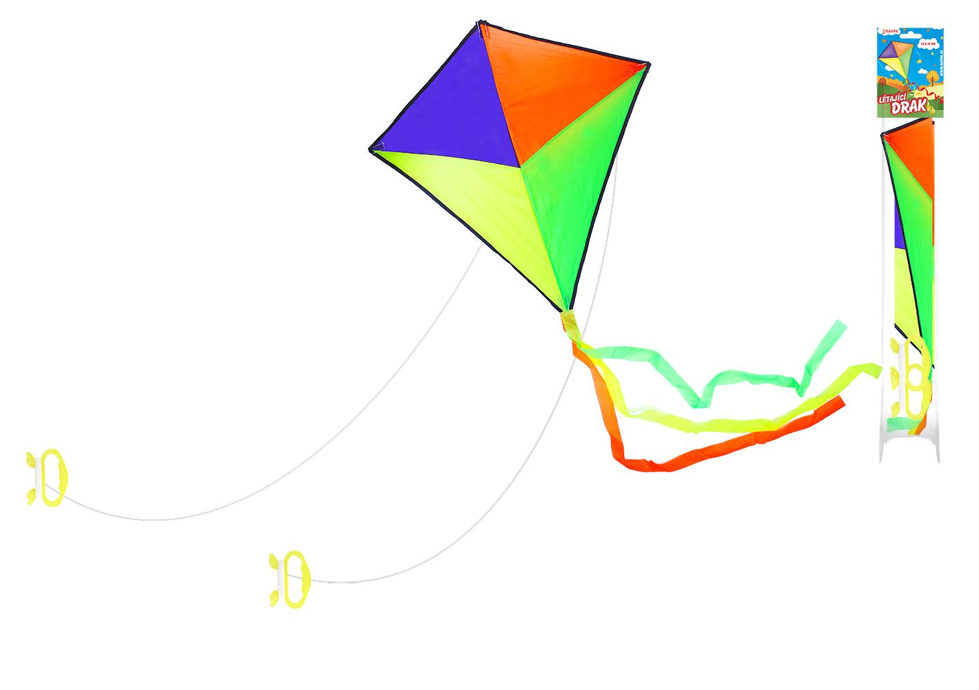 drak lietajúci nylonový 72 x 72 cm