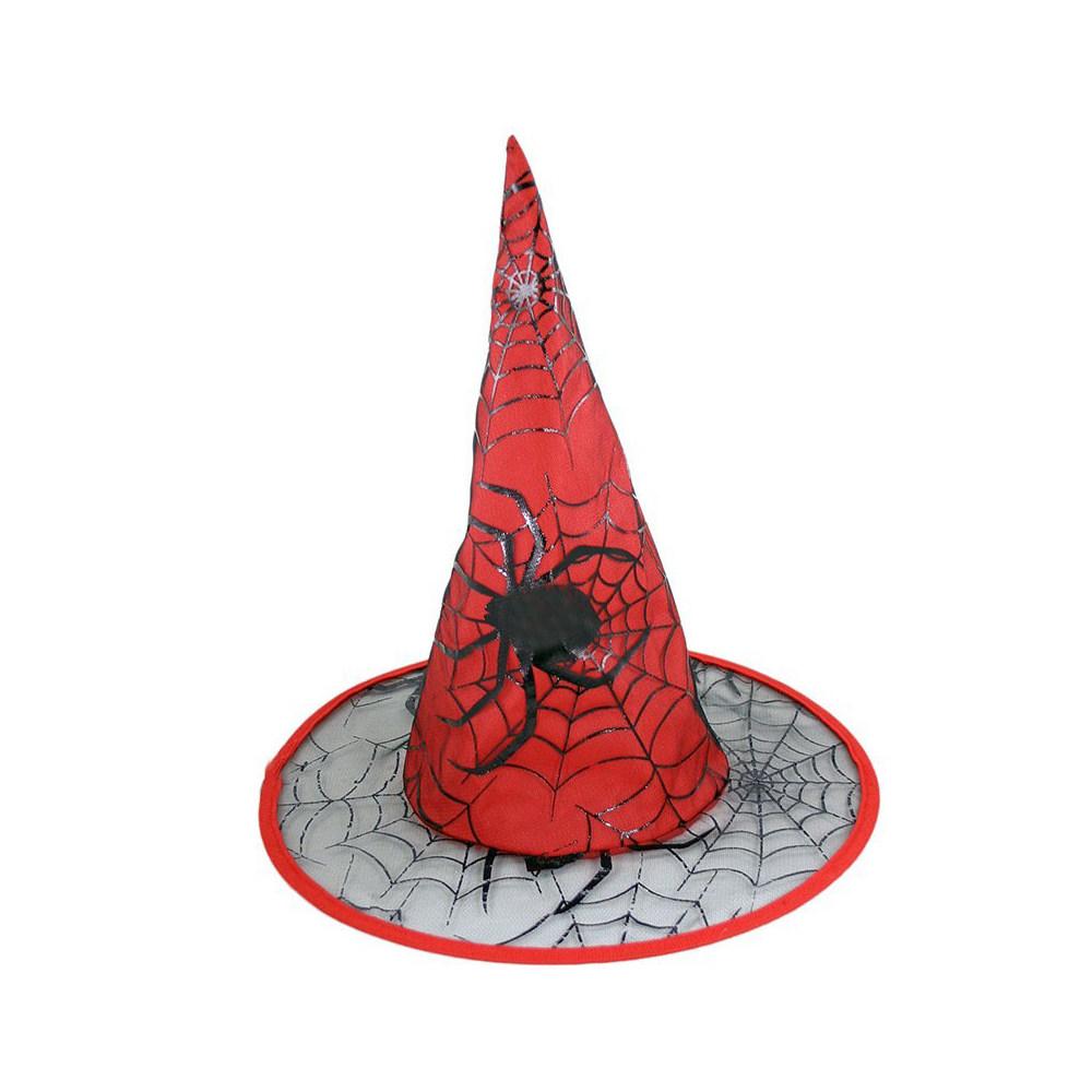 klobúk čarodejnícky červený pre dospelých