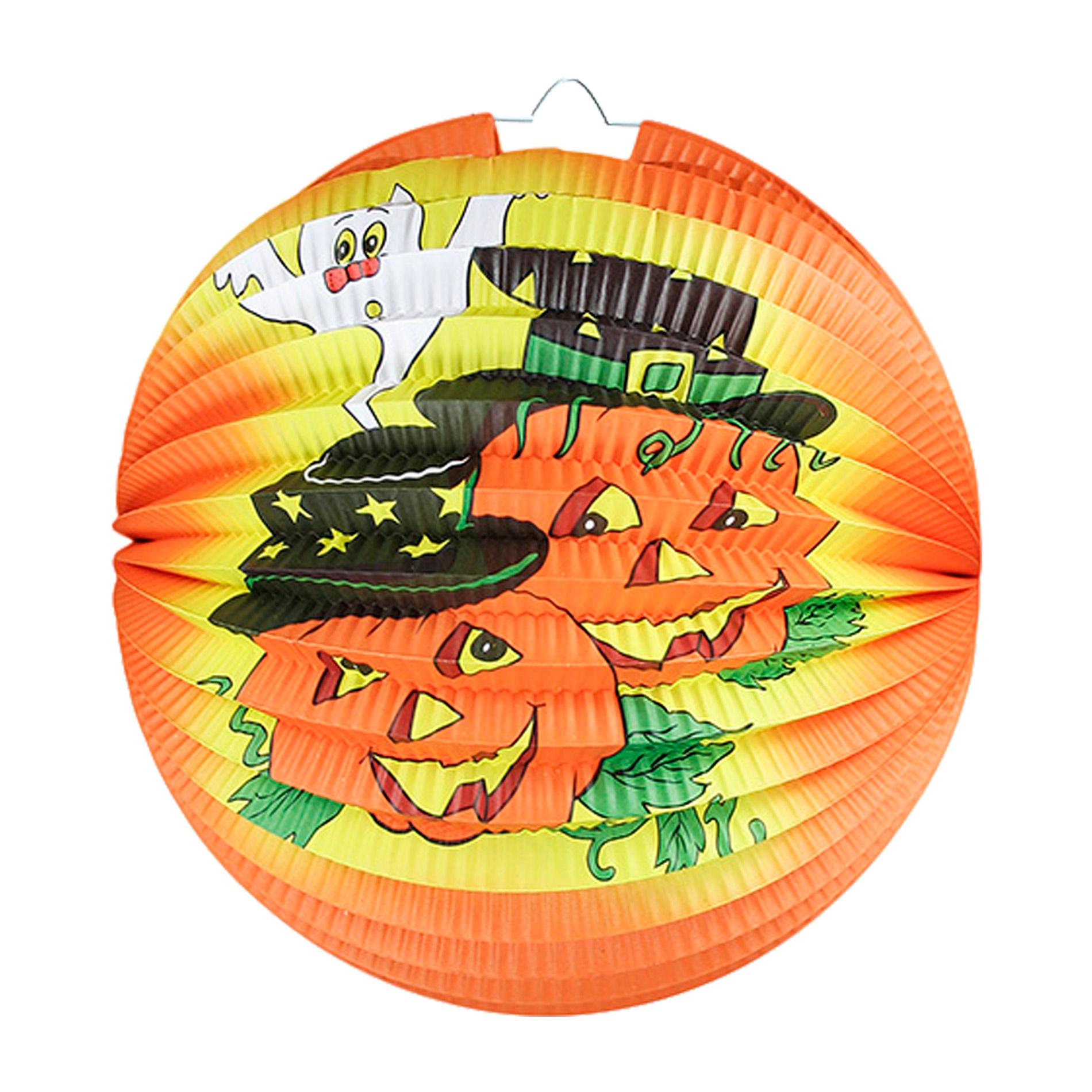 lampión Halloween - veselé tekvice, 25 cm