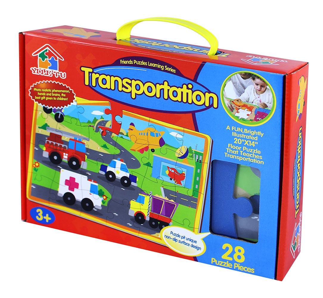 puzzle 28 penové - farma/dopravné prostriedky