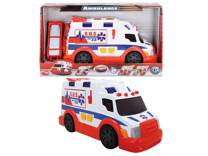 auto ambulancia AS so svetlom a zvukom, 33 cm