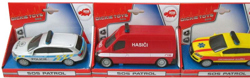 Auto SOS 14 cm, česká verzia, 3 druhy