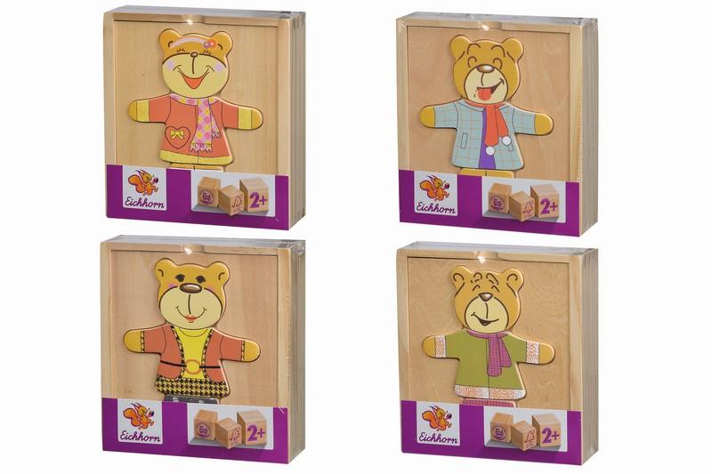 Dřevěná skládačka medvídek