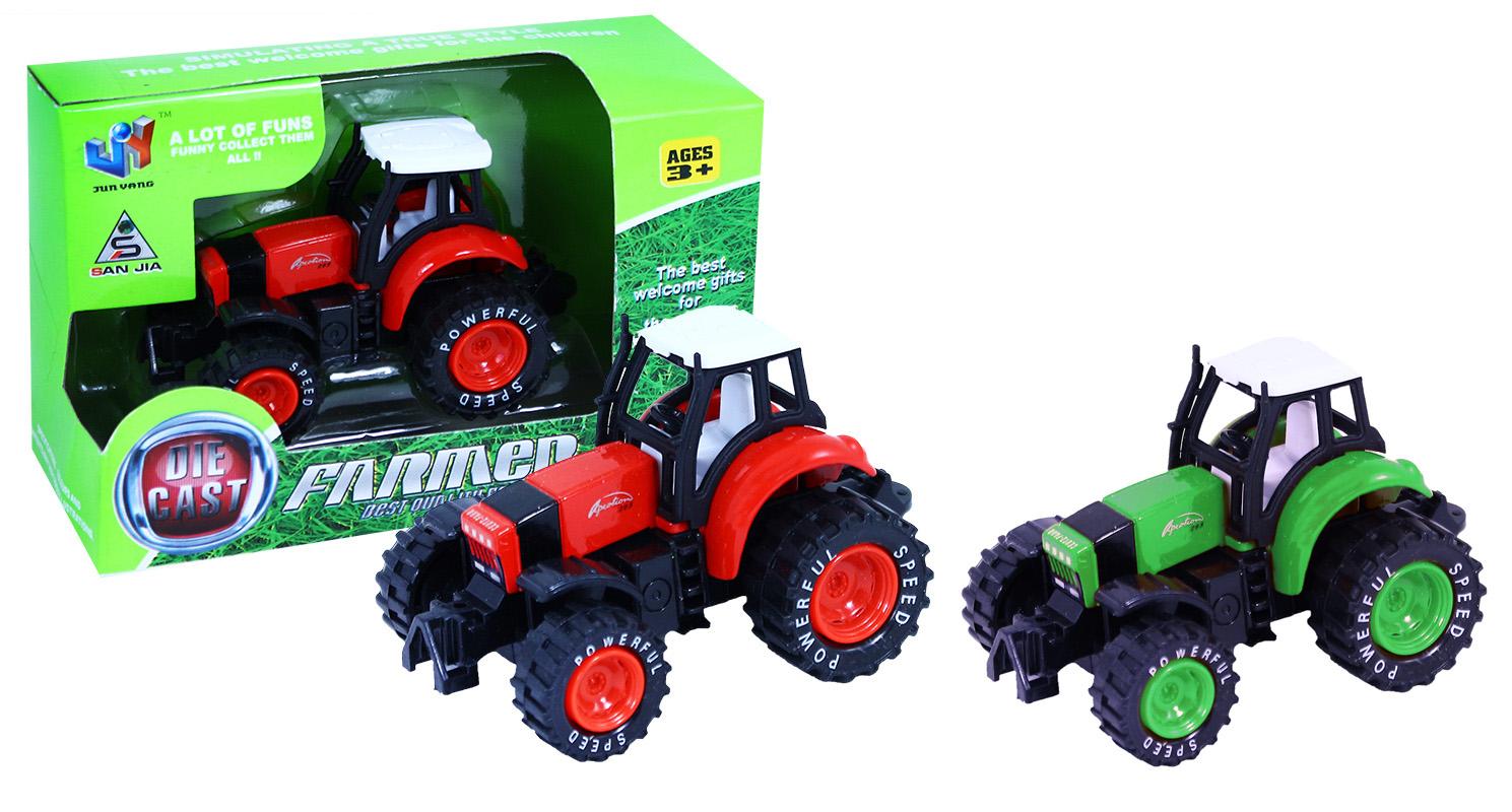 traktor kovový, 2 druhy