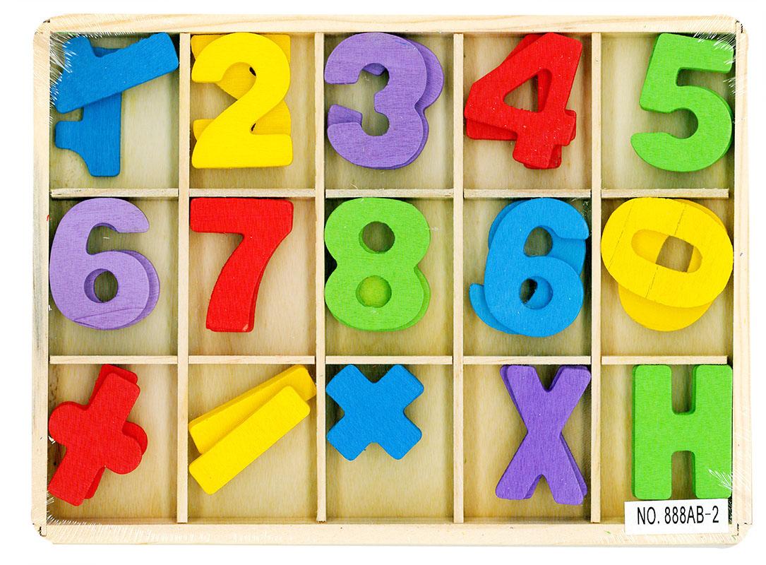 počítanie drevené