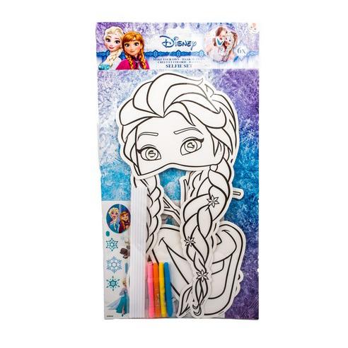 selfie tyč s maskou FROZEN - Ľadové kráľovstvo