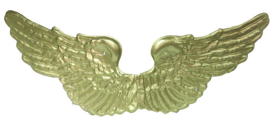 krídla plastové zlaté