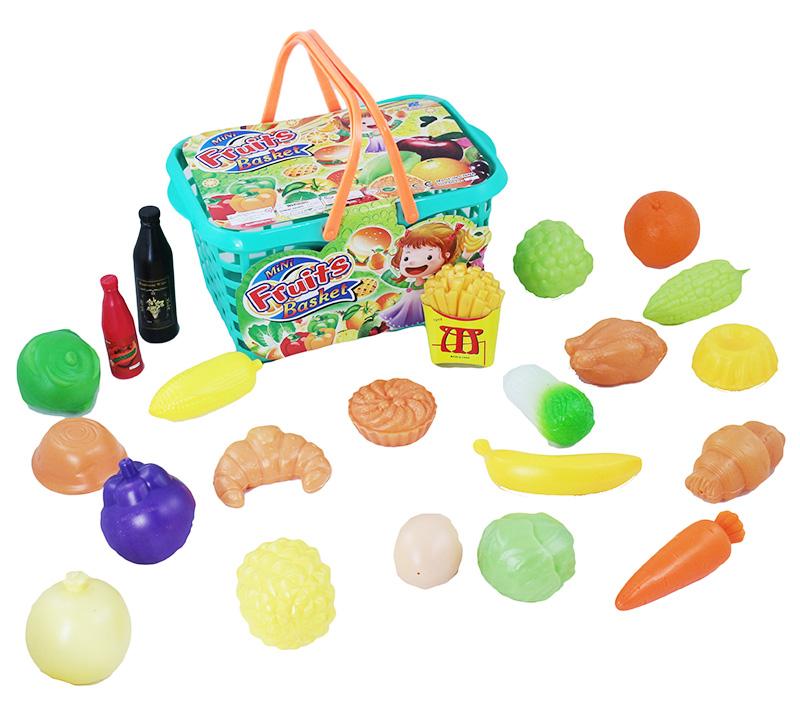 košík nákupný s potravinami
