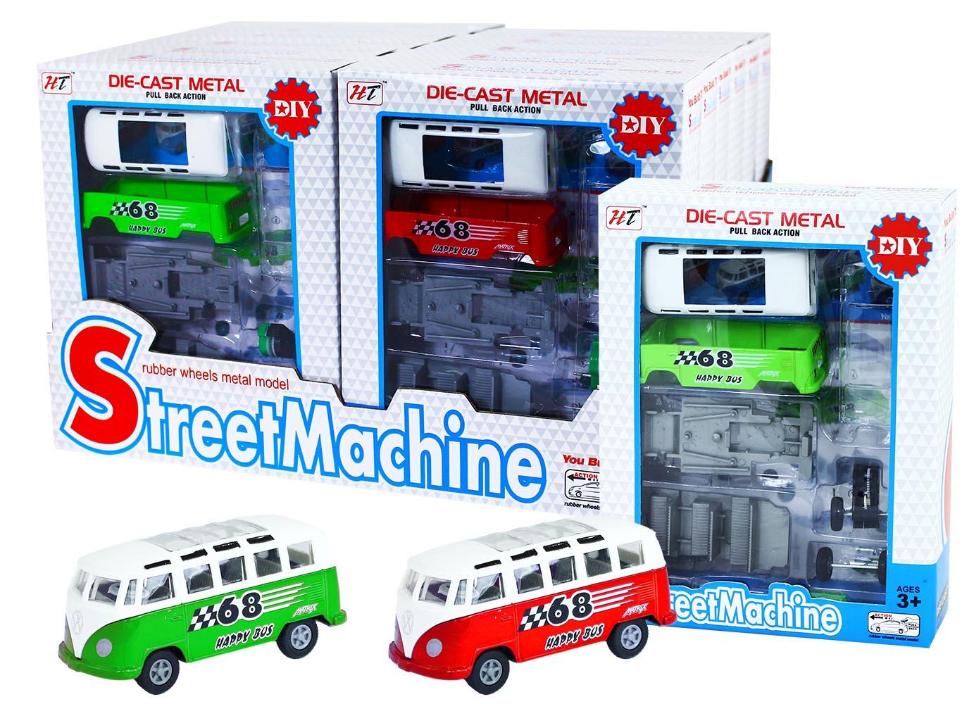 auto mikrobus kovový rozložiteľný