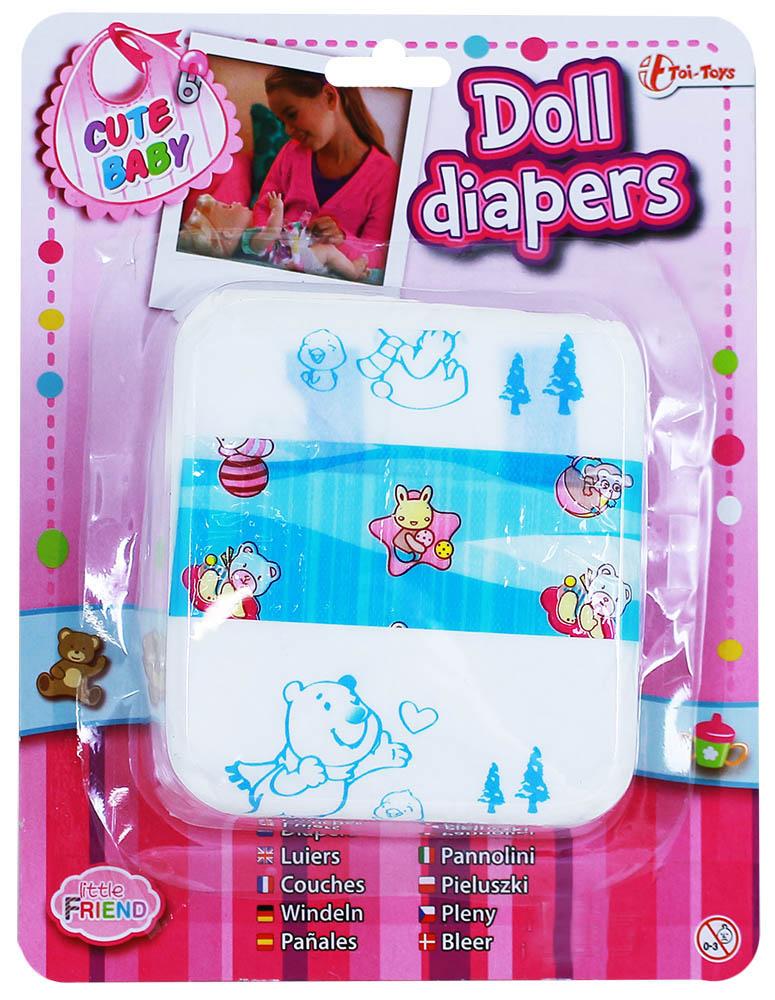 plienky pre bábiky 5 ks