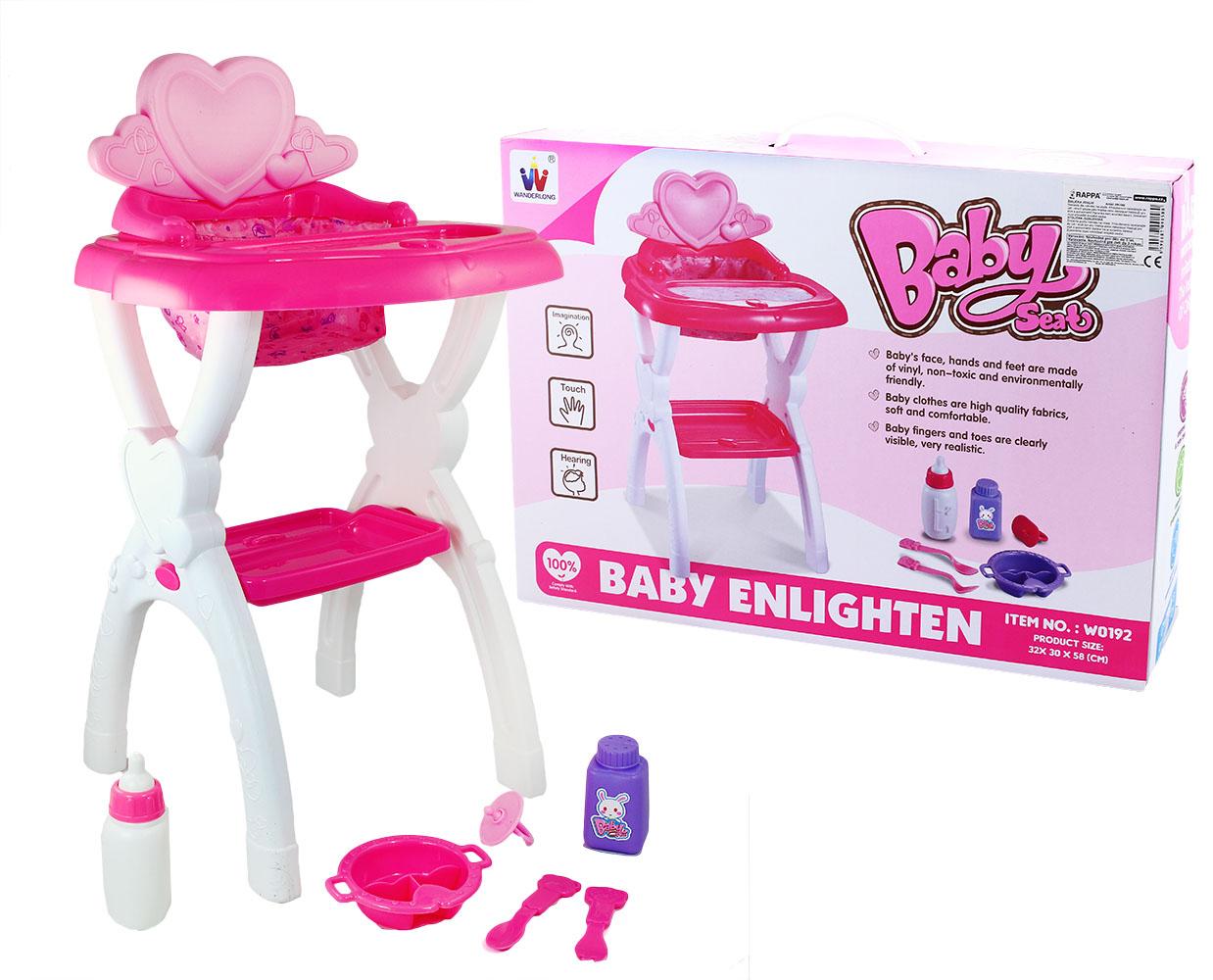 stolička jedálenská pre bábiky