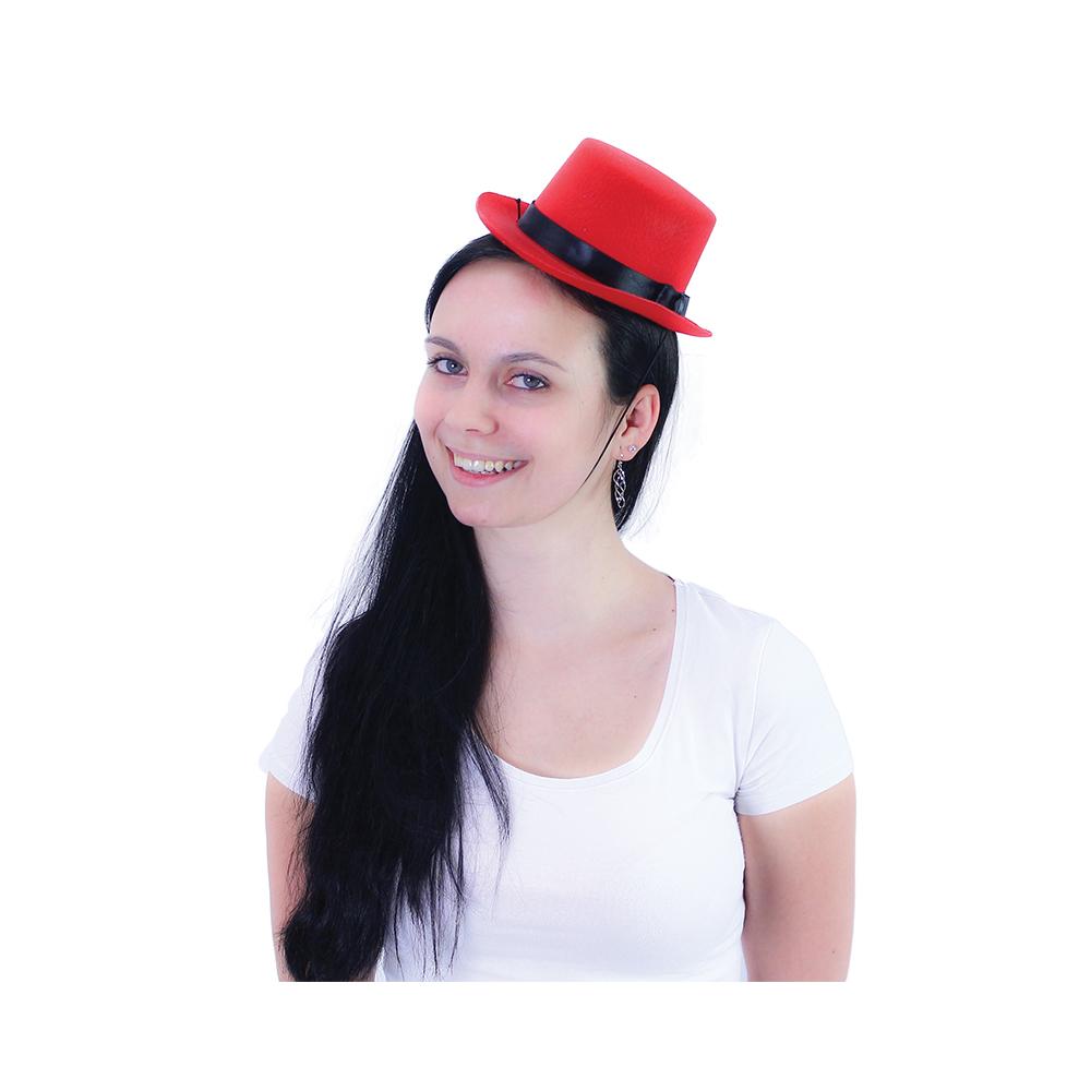 tvrdý klobúk mini červený