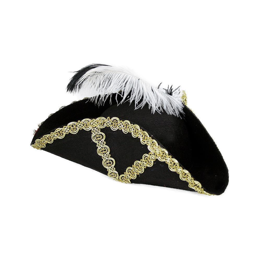 klobúk pirátský s perím pre dospelých