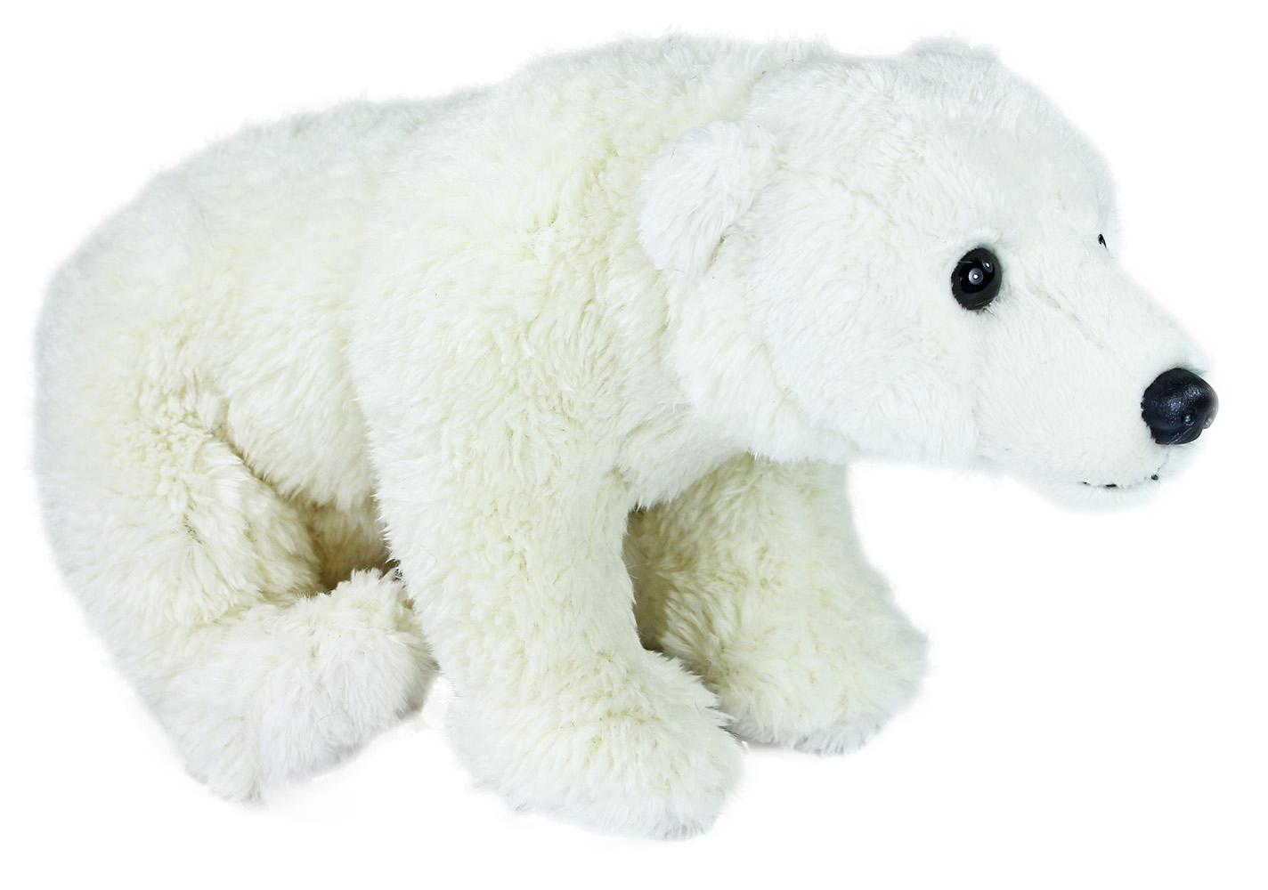 plyšový medveď ľadový sediaci, 24 cm