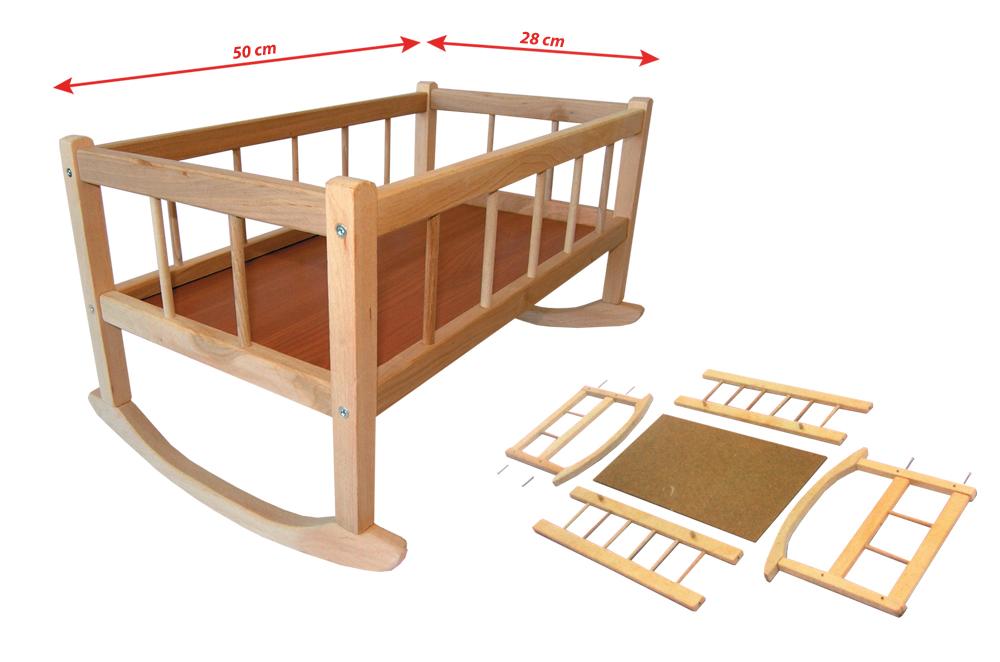 kolíska drevená, 50 x 28 cm