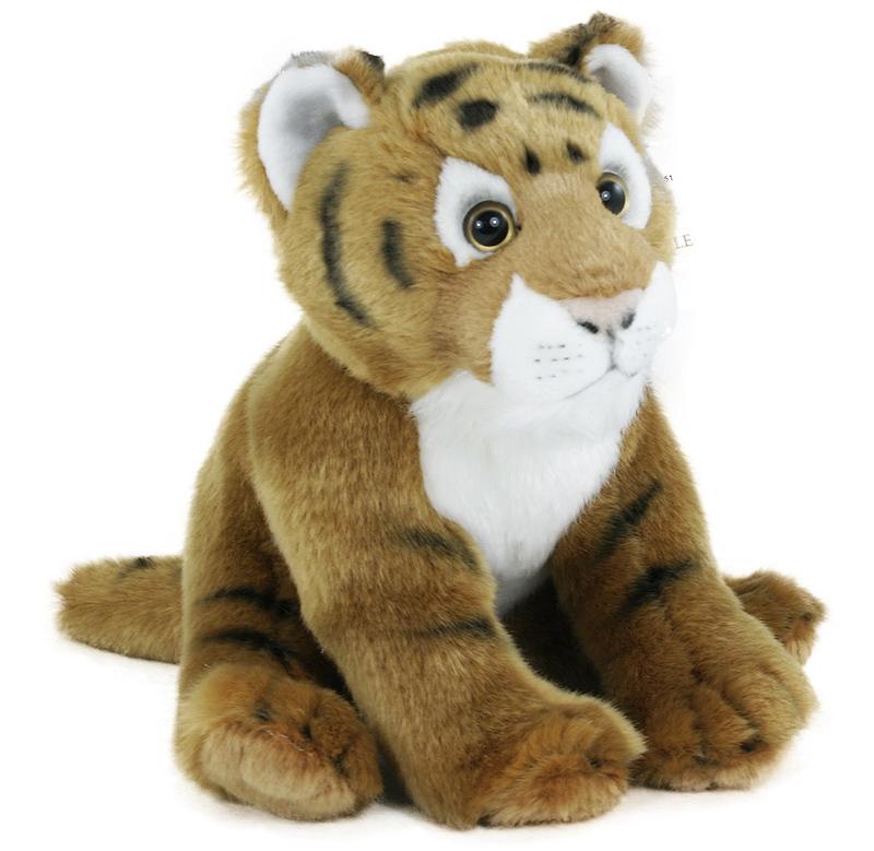 plyšový tiger sediaci, 20 cm