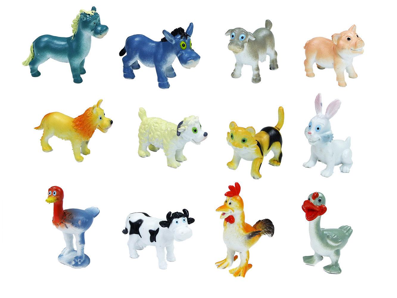 zvieratá domáce veselá, 6 ks v sáčku