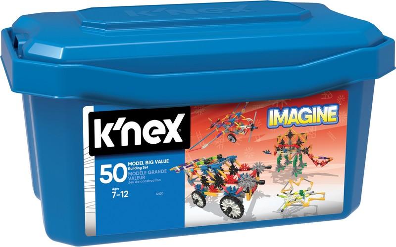 KNEX Stavebnica zvýhodnené balenie 50 modelov, 408 dielikov
