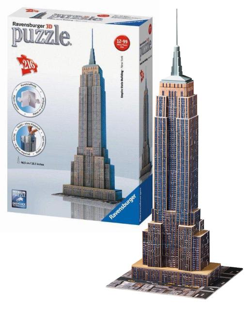 puzzle 3D Empire State Building, 216 dielov