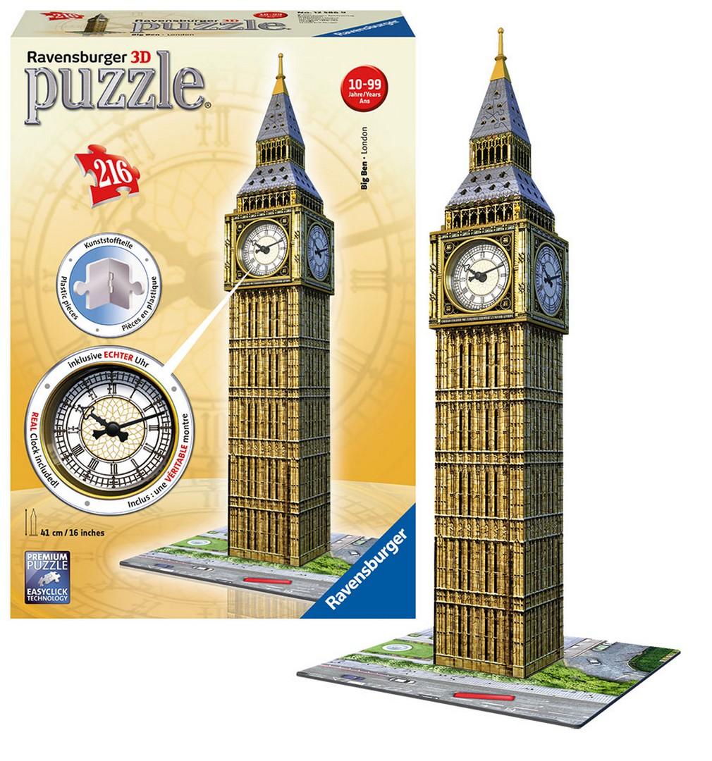 3D PUZZLE Big Ben s hodinami, 216 dielikov