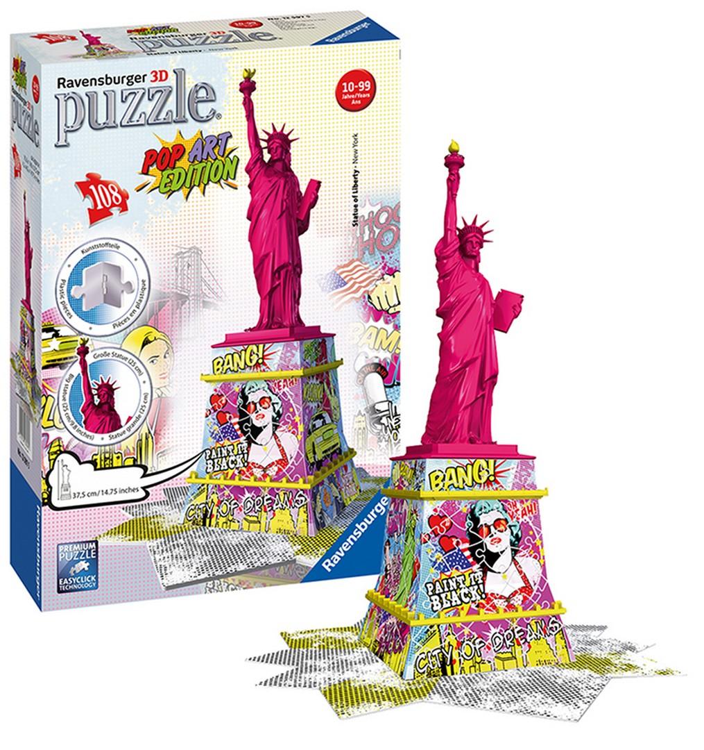 3D PUZZLE Socha Slobody POP ART, 216 dielikov