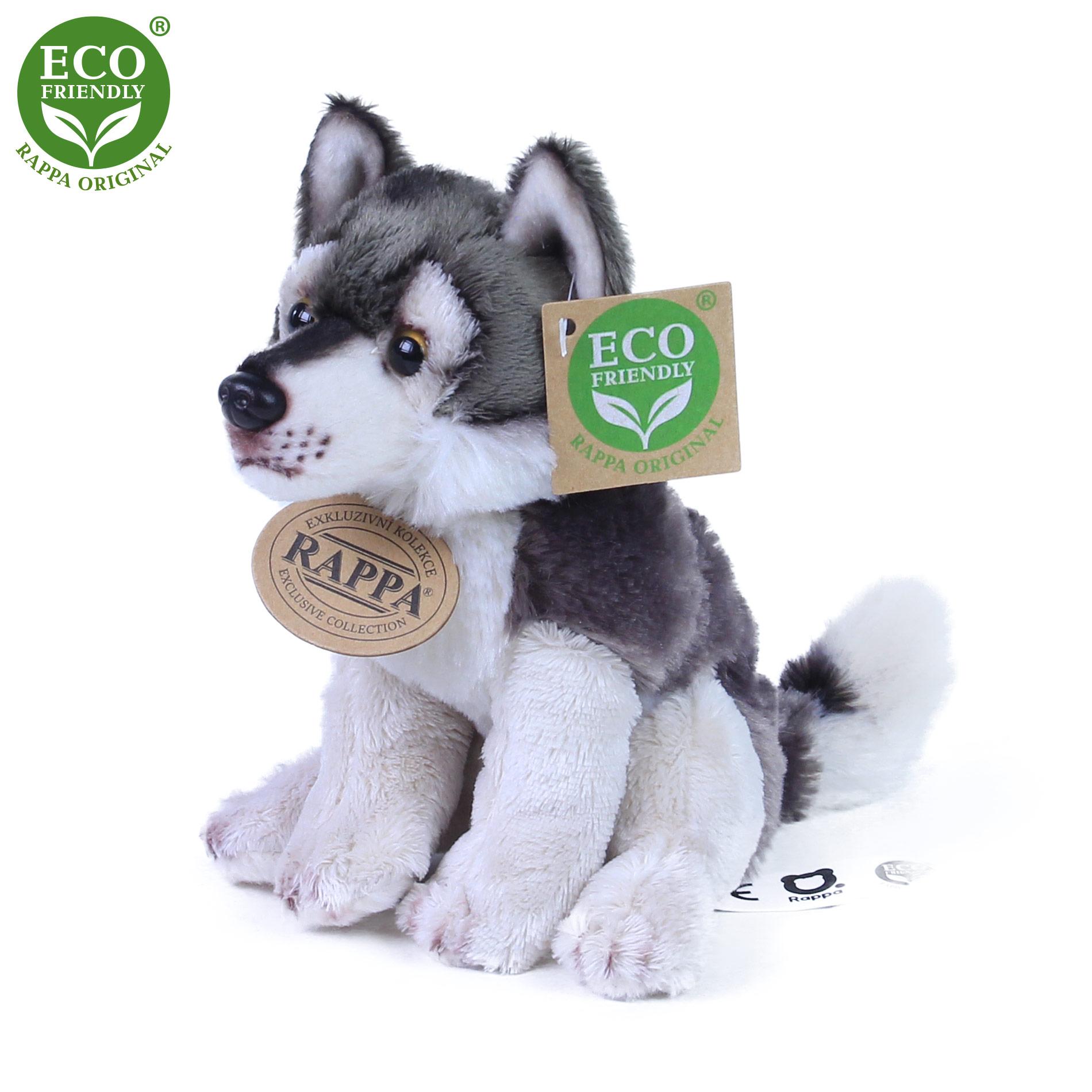 plyšový vlk sediaci, 15 cm