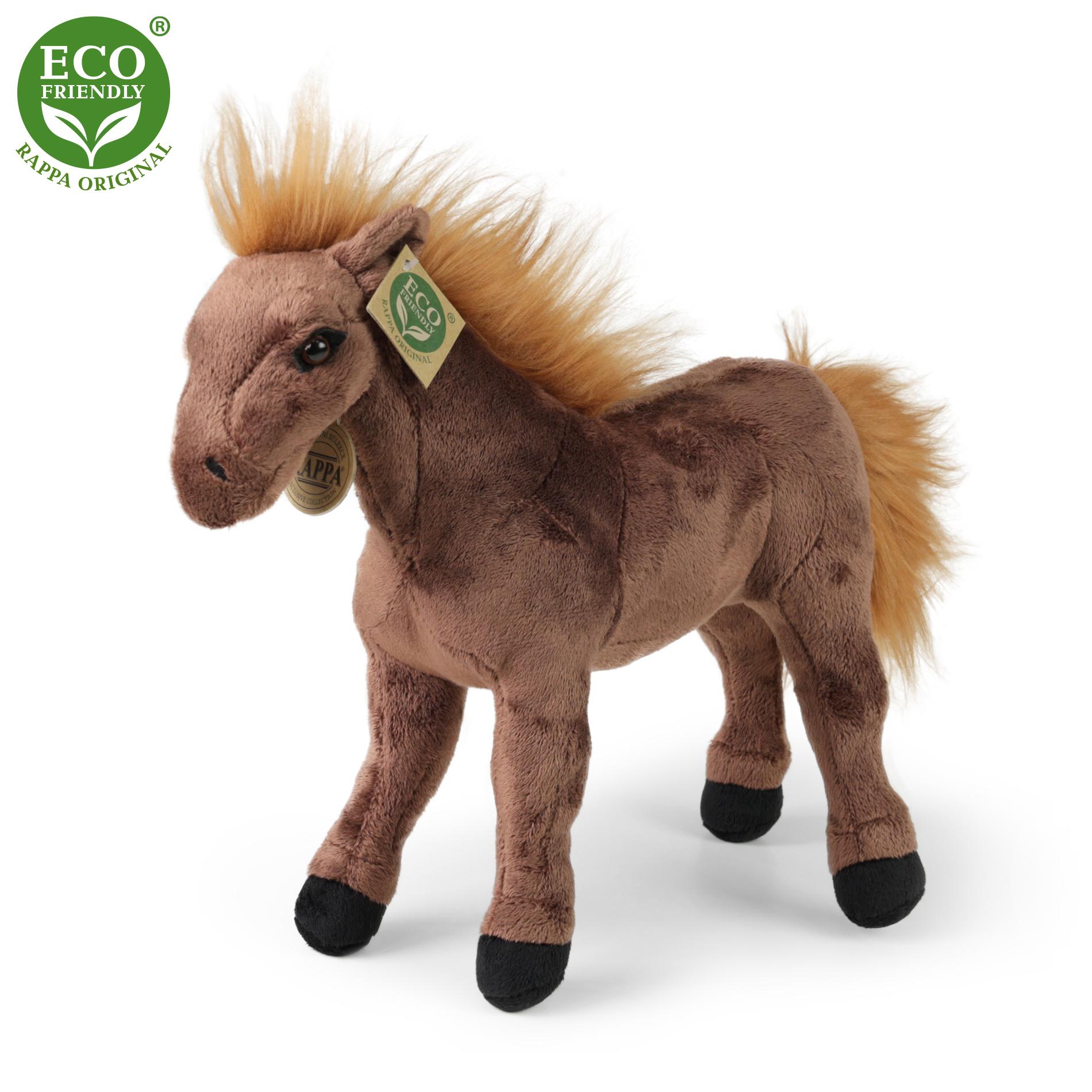 plyšový kôň hnedý, 29 cm