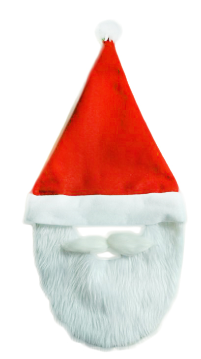 čiapka vianočná s fúzmi