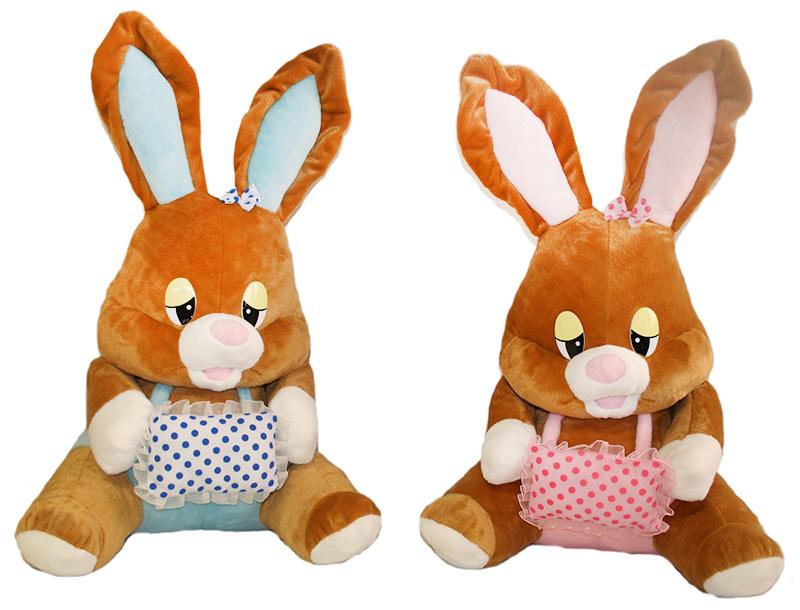 veľký plyšový zajac s vankúšom sediaci, 60 cm