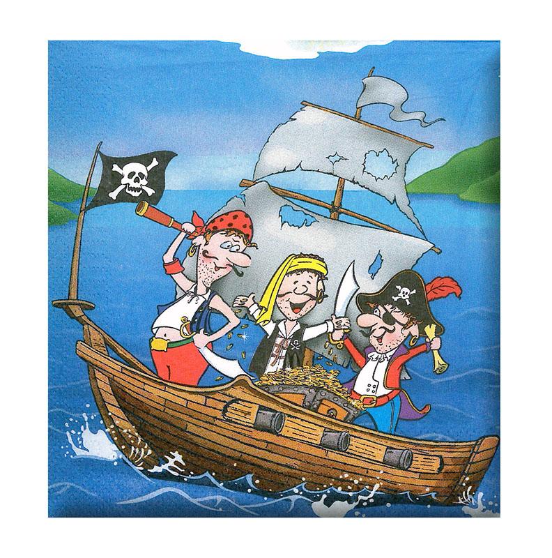 obrúsok párty - pirát, 12 ks vo vrecku