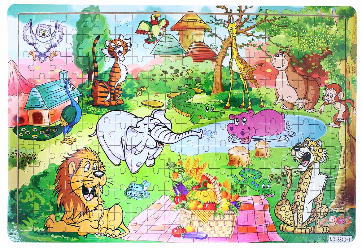 puzzle drevené zvieratá ZOO