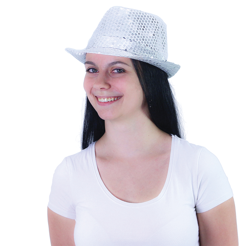 klobúk disco strieborný dospelý - Michael Jackson style