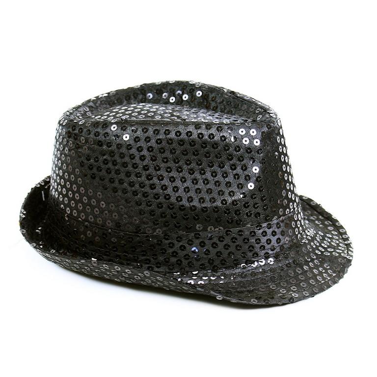 klobúk disco čierny dospelý - Michael Jackson style