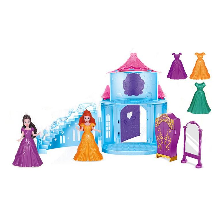hrad zimné kráľovstvo s princeznami s odnímateľnými šaty