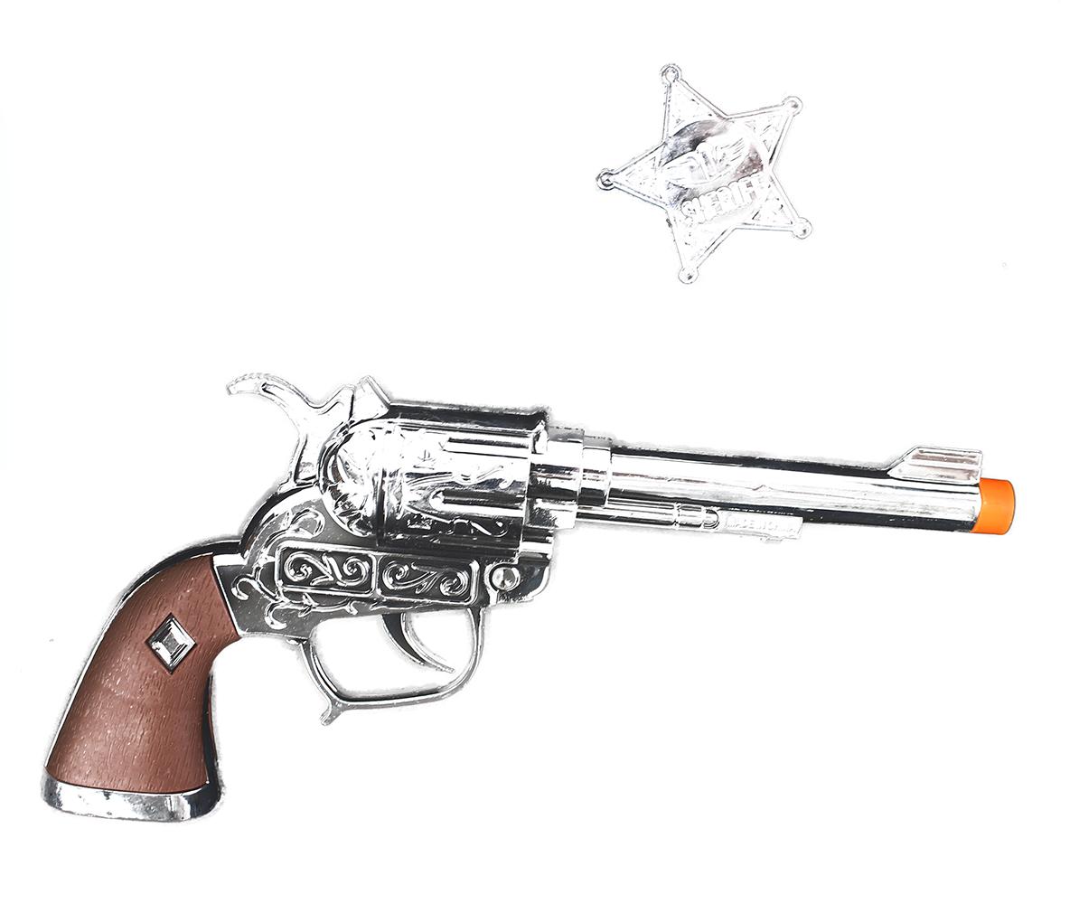 pištoľ kovbojská s odznakom Sheriff