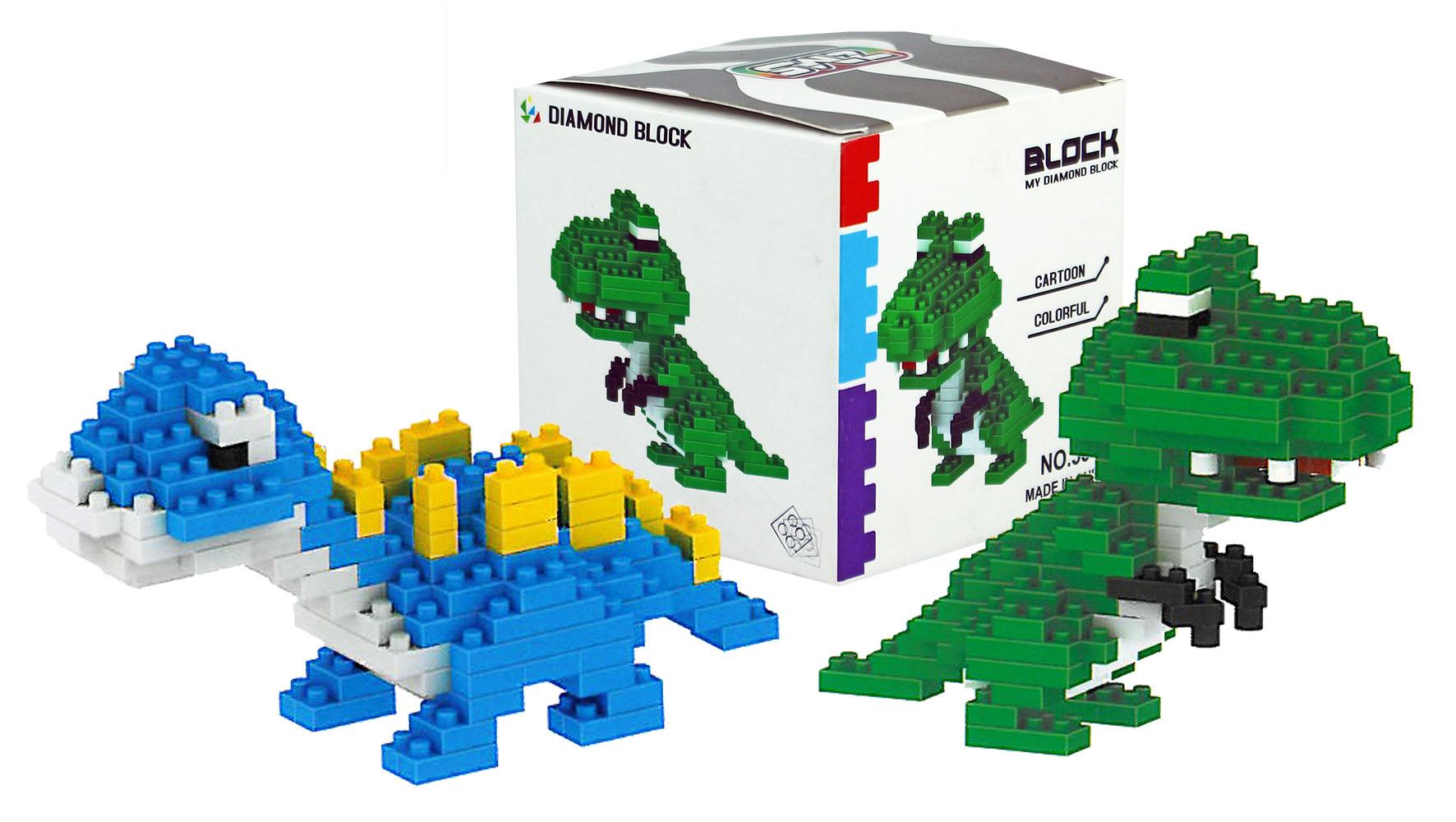 stavebnice mikro dino / krokodíl, 2 druhy