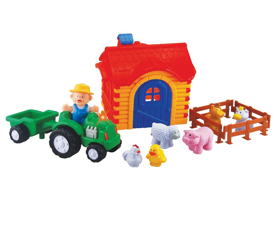 sada traktor s farmou veľká pre najmenších
