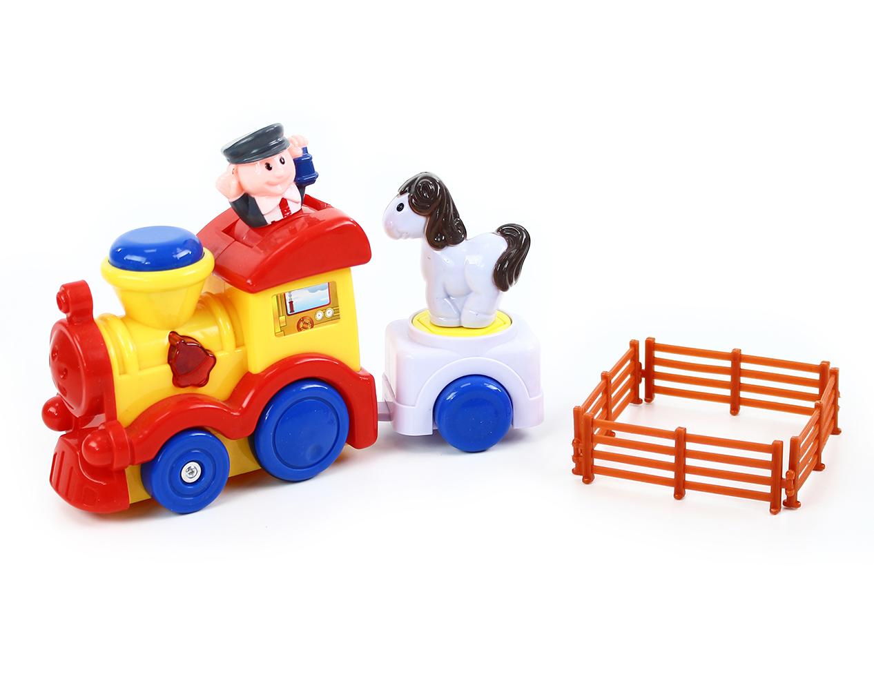 lokomotiva s vagonem se zvukem a světlem