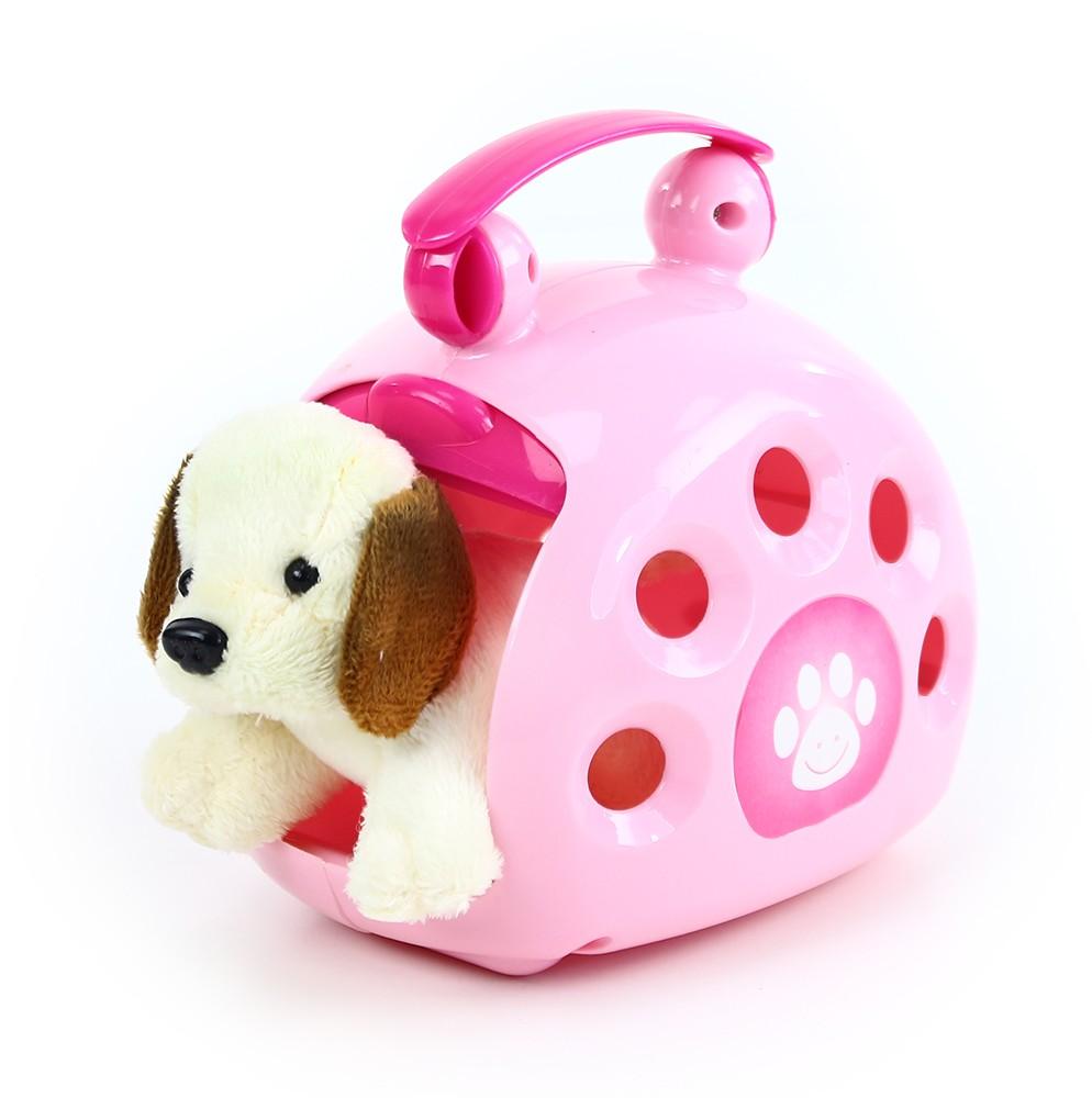 plyšový psík s prepravnou kabelkou