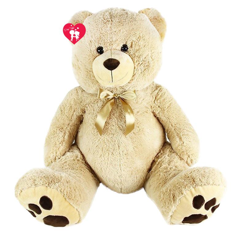 Velký plyšový medvěd mohutný Brumla s visačkou 100 cm