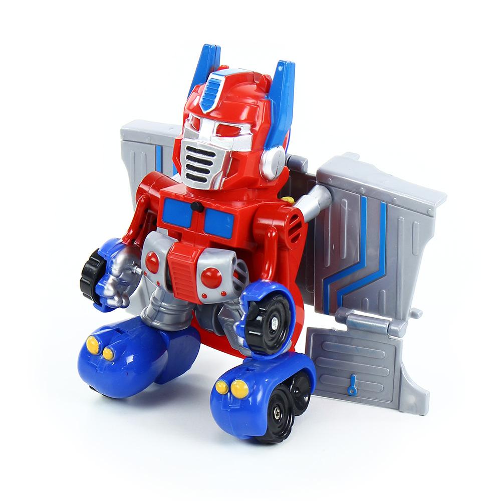 robot rozložitelný červený se zvukem a světlem, 2 druhy