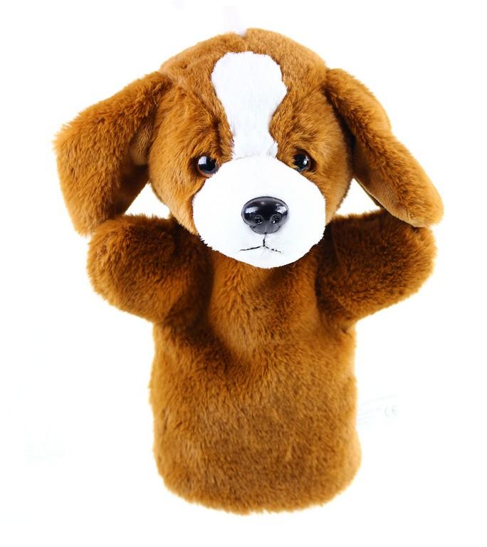 plyšový maňuška pes 26 cm hnedý