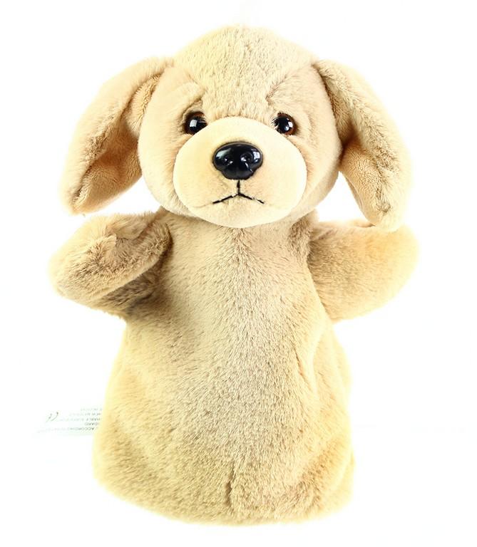plyšový maňuška pes 26 cm béžový