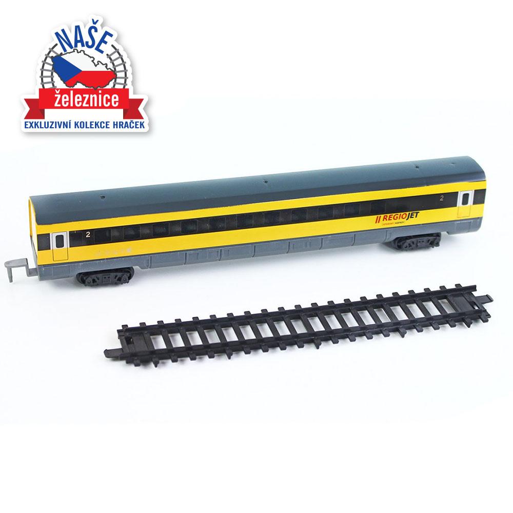 vagón a koleje pro vlak RegioJet