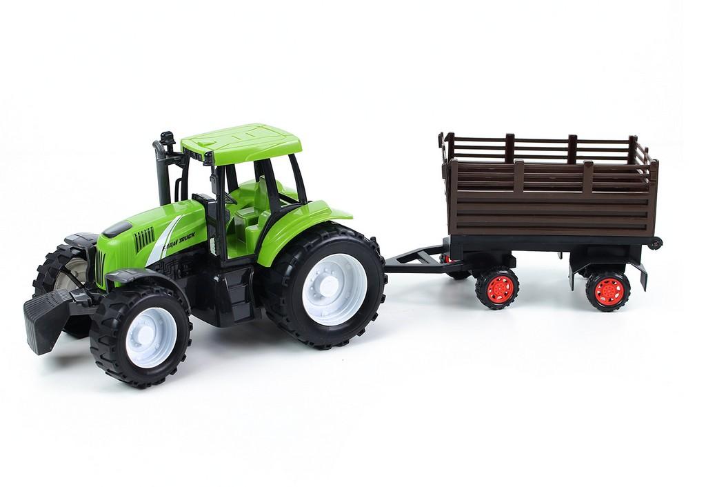 traktor farmársky s vlečkou, 2 druhy