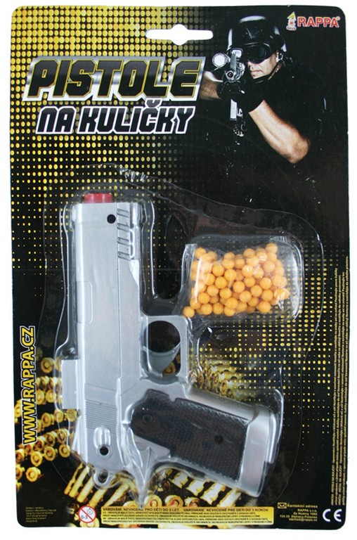 pištoľ na guličky 2 druhy