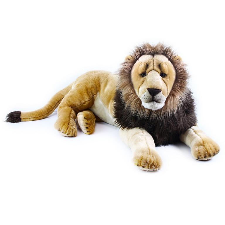 Velký plyšový lev ležící 92 cm