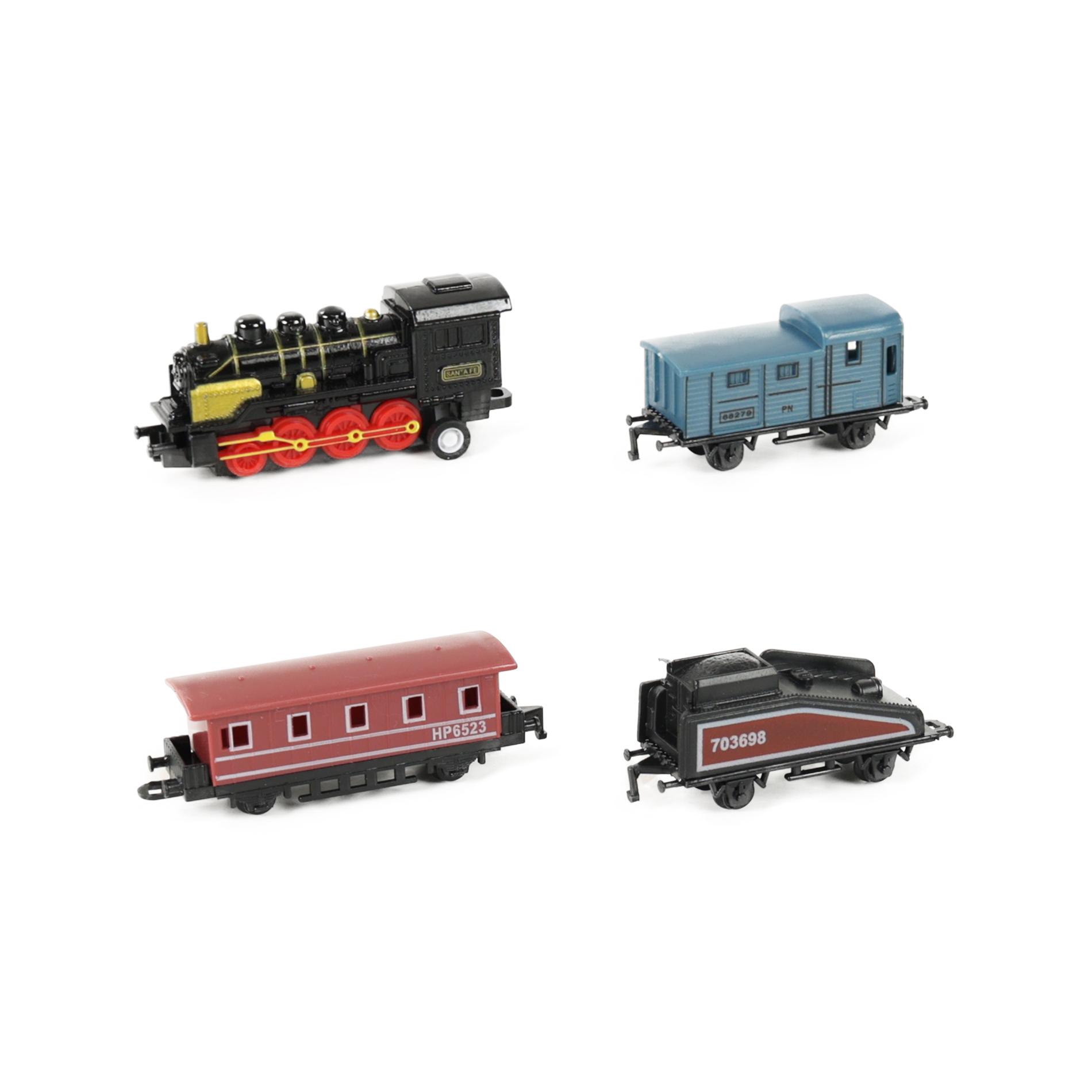 vlak kovový mini 4 druhy