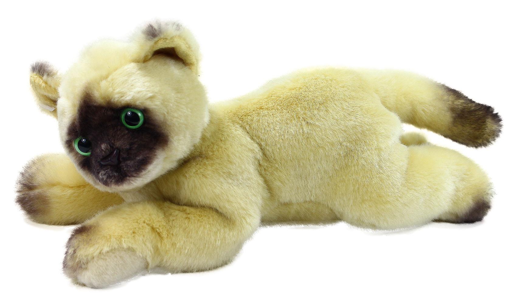 plyšová mačka Siamská ležiaca, 30 cm